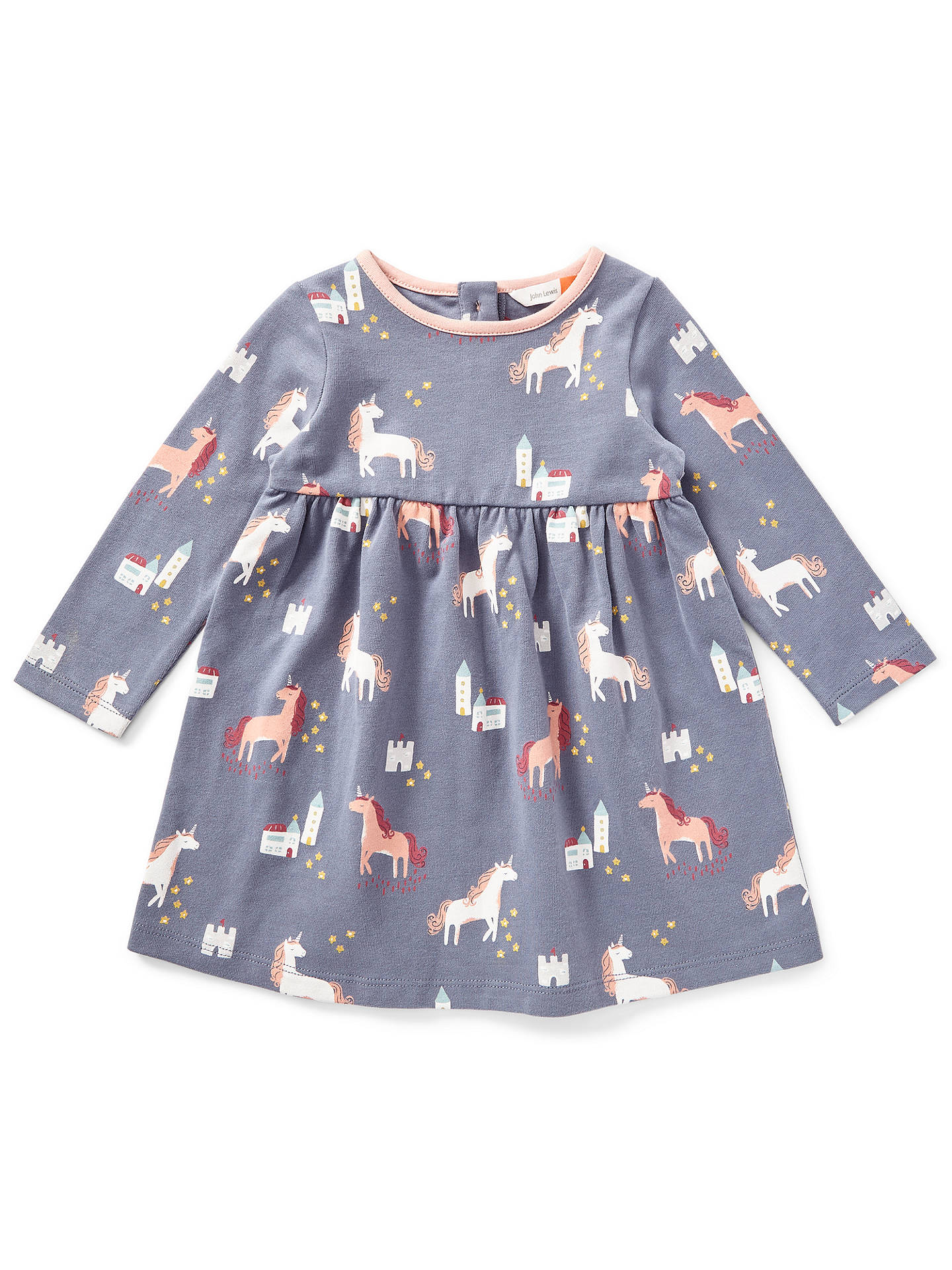 fbee79357 John Lewis   Partners Baby Unicorn Print Dress