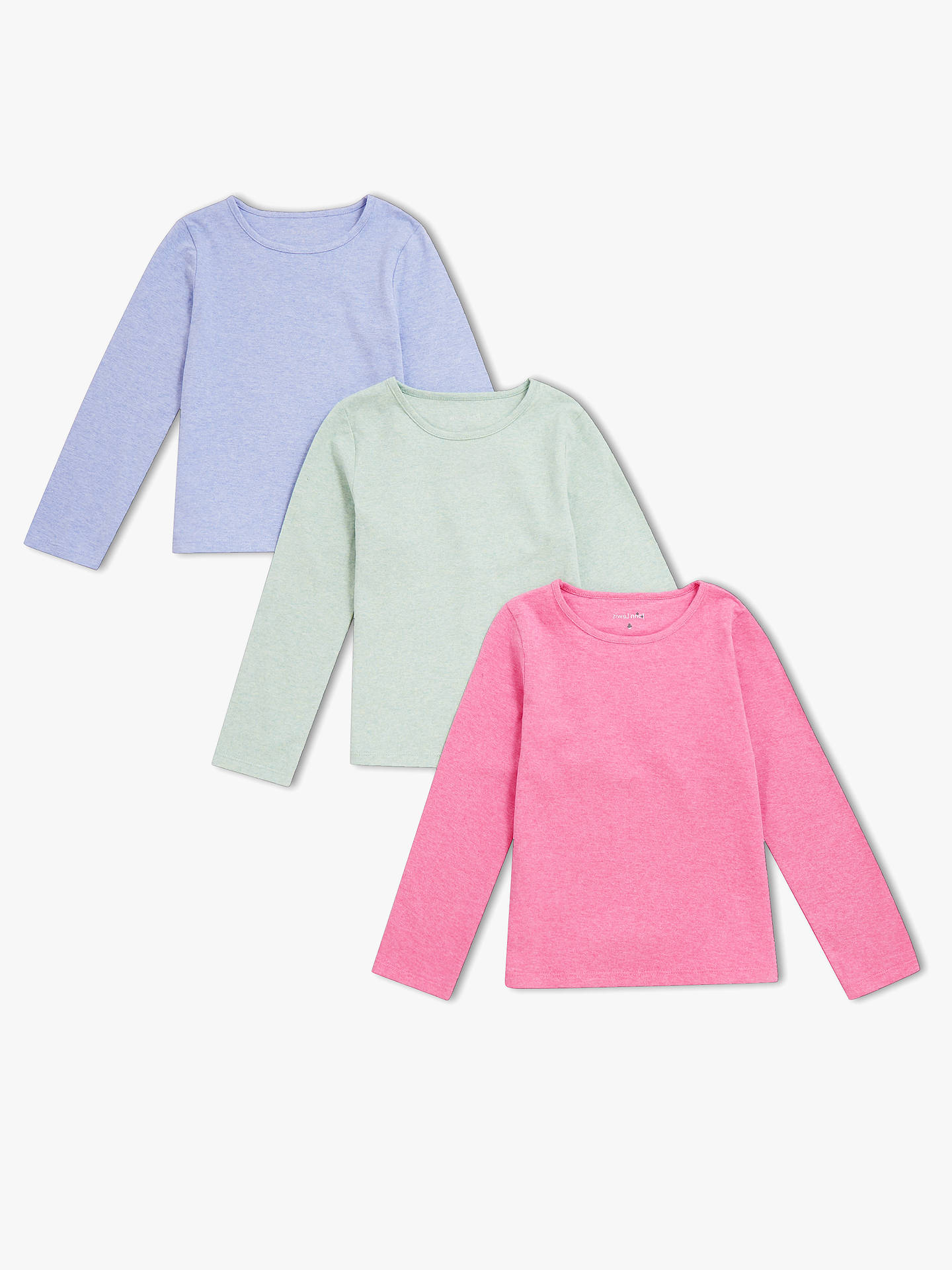 62e097c48ec Buy John Lewis   Partners Girls  Long Sleeve Plain T-Shirts