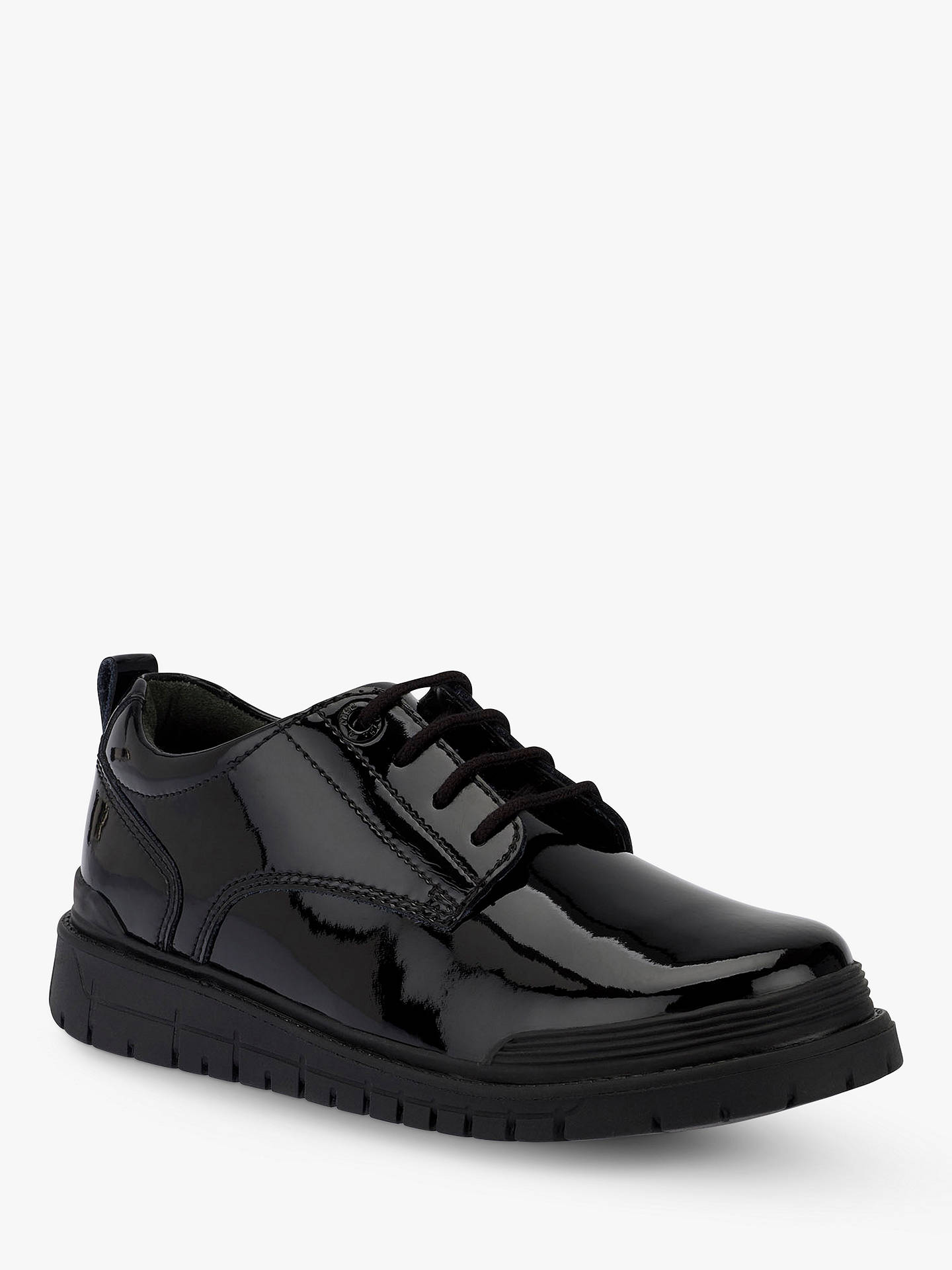 BuyStart-rite Force Lace Up Brogues, Black Patent, 13F Jnr Online at johnlewis.com