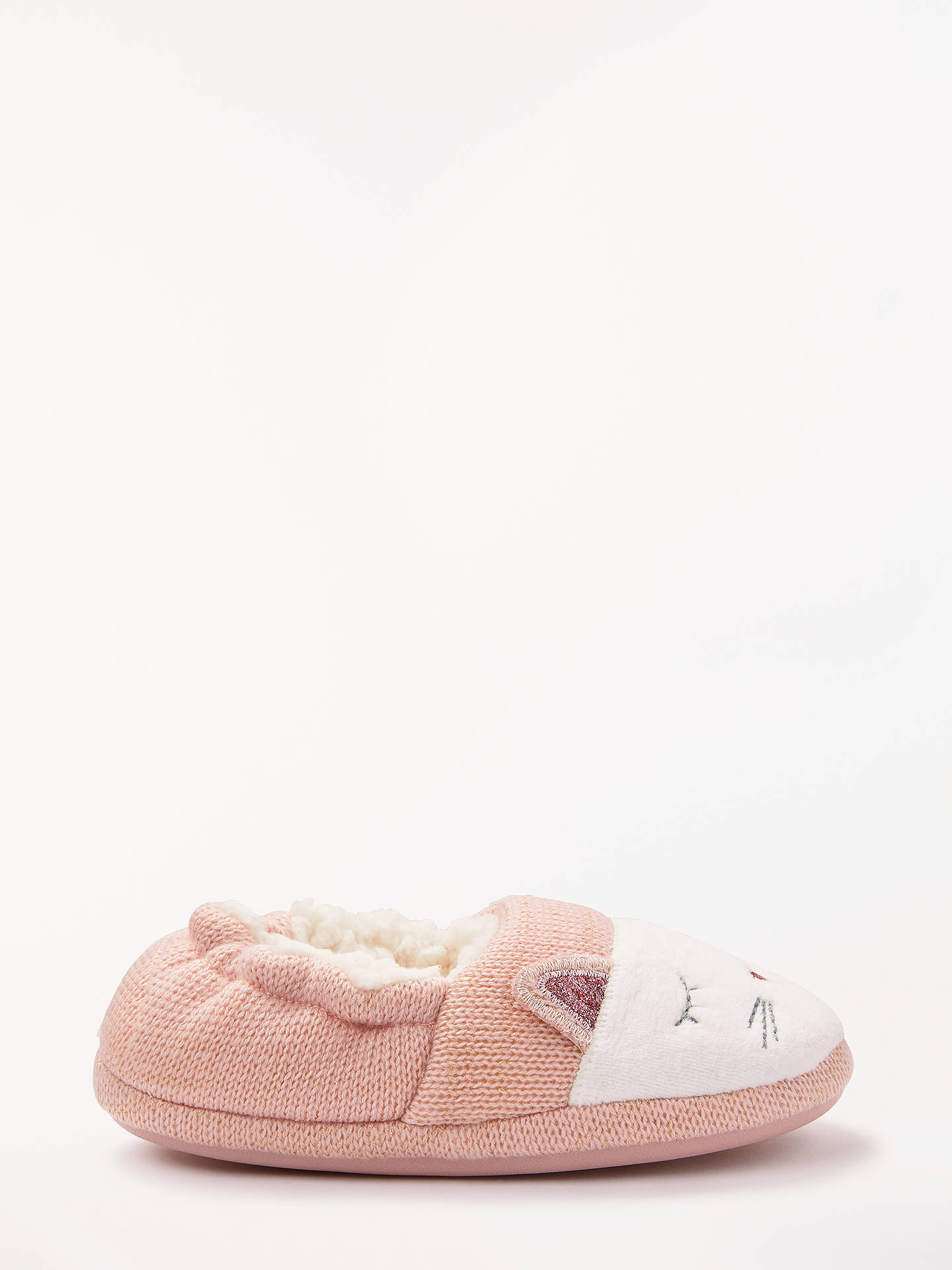BuyJohn Lewis & Partners Children's Cat Slippers, Pink, 8 Jnr Online at johnlewis.com