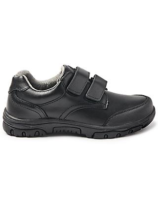 John Lewis & Partners Children's Cumbria Double Riptape Shoes, Black