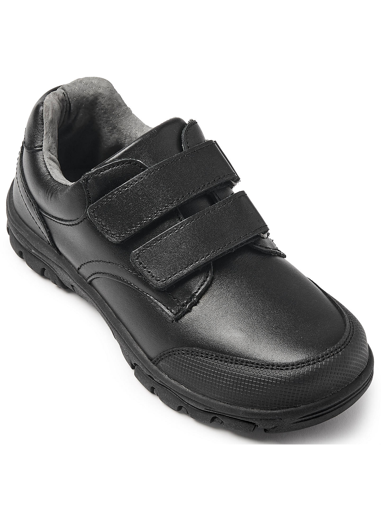 Buy John Lewis & Partners Children's Cumbria Double Riptape Shoes, Black, 10W Online at johnlewis.com