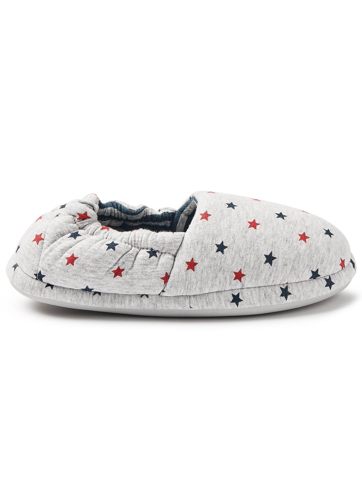 BuyJohn Lewis & Partners Children's Star and Stripes Slippers, Grey, 9 Jnr Online at johnlewis.com