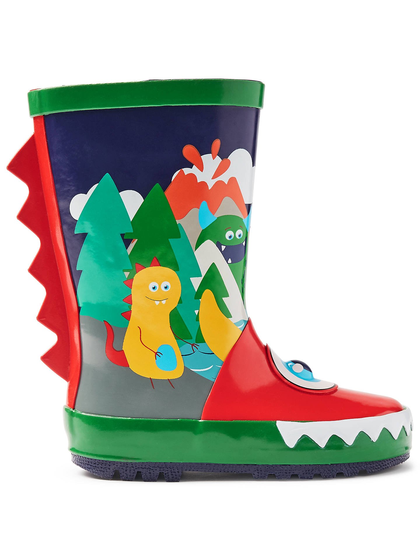 BuyJohn Lewis & Partners Children's Monster Eye Wellington Boots, Navy, 4 Jnr Online at johnlewis.com
