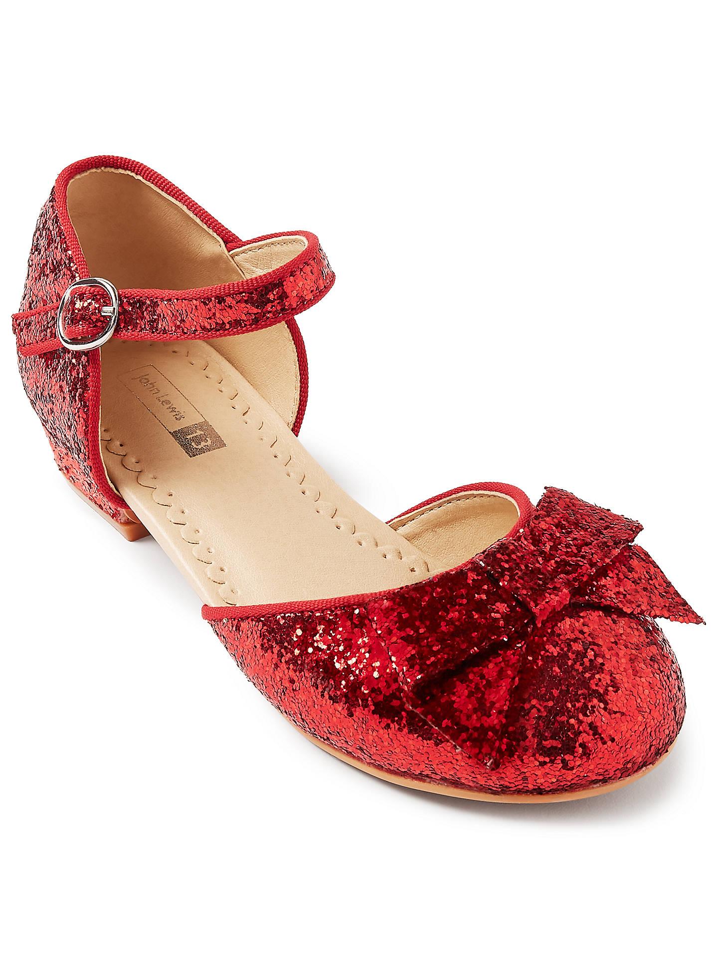 John Lewis & Partners Children's Dorothy Glitter Shoes at ...