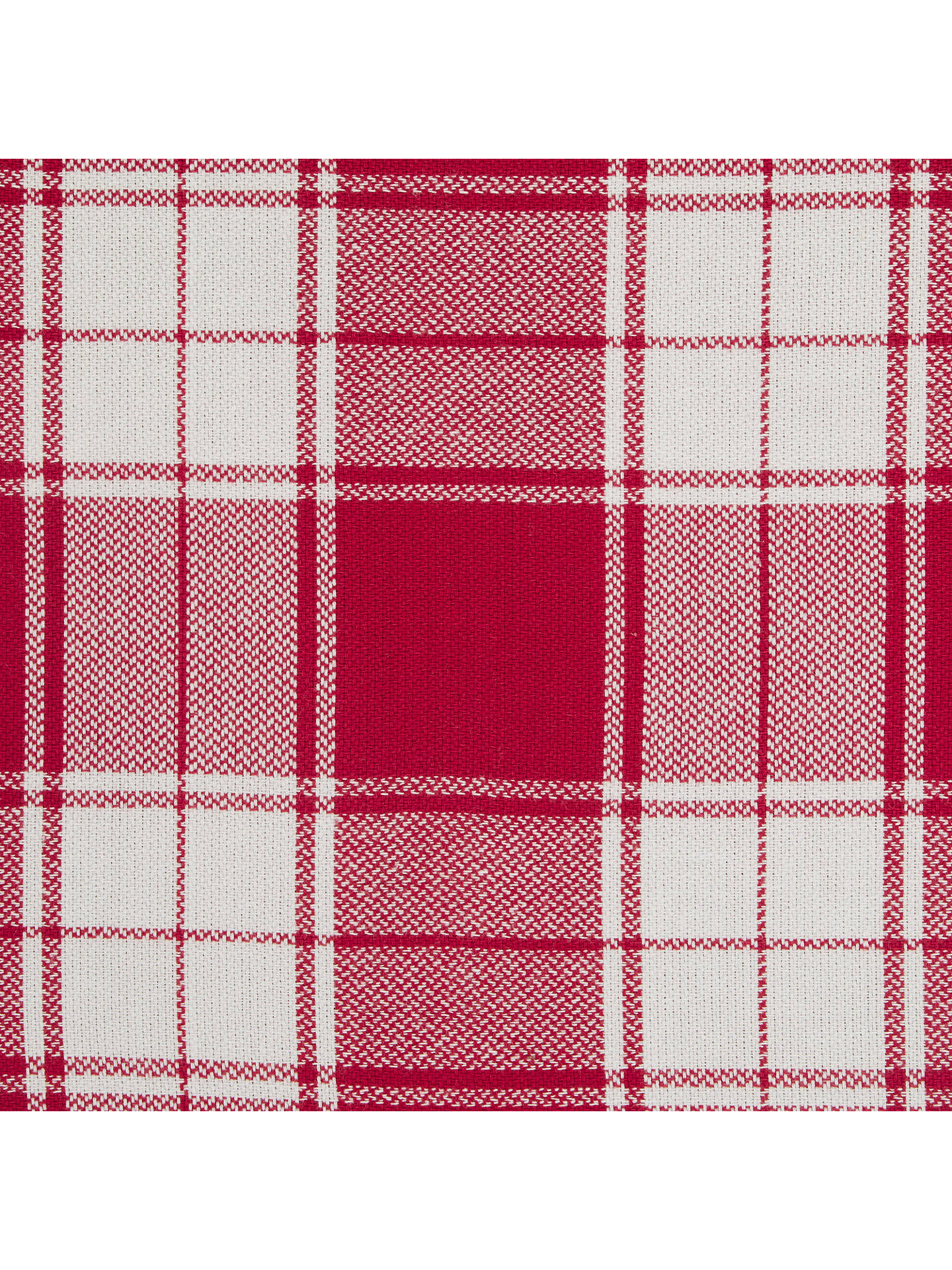 Buy John Lewis & Partners Check Tablecloth, Red, 250 x 160cm Online at johnlewis.com