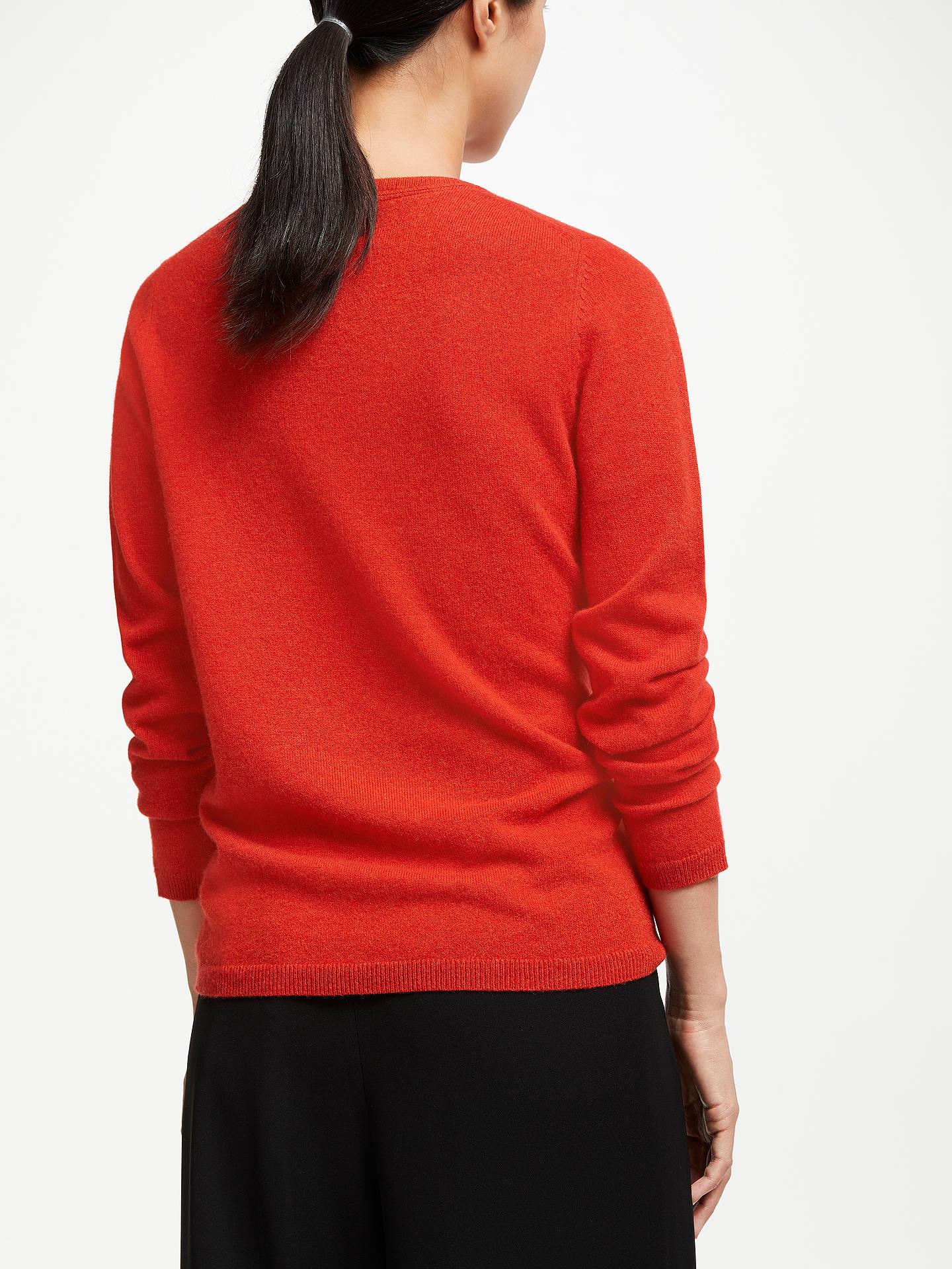 883c3aa3 ... Buy John Lewis & Partners Cashmere Crew Neck Sweater, Burnt Orange, 8  Online at ...