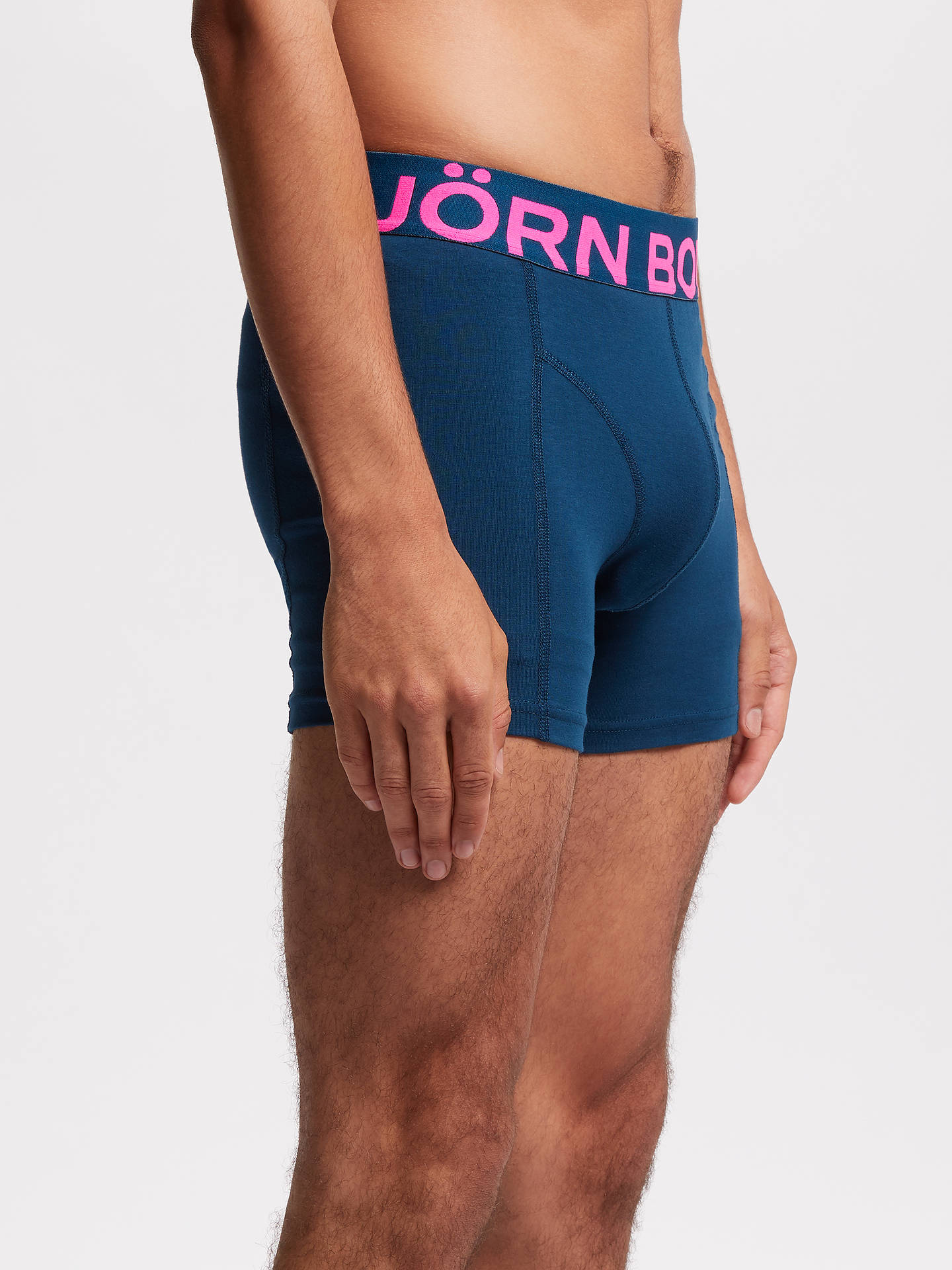 BuyBjörn Borg Solid Neon Sammy Trunks, Pack of 2, Blue/Multi, S Online at johnlewis.com