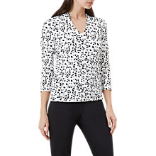 Buy Hobbs Aimee Printed Top, Ivory/Black Online at johnlewis.com