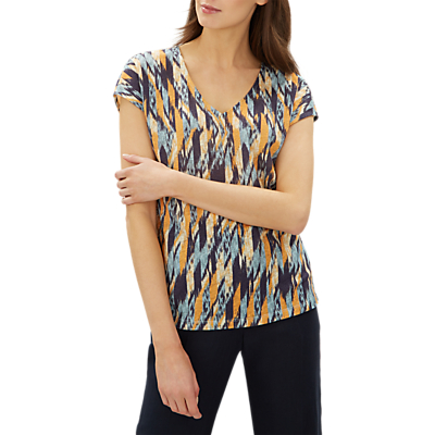 Jaeger Abstract Check Print Jersey Top, Multi
