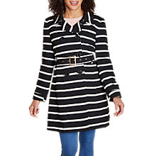 Buy Yumi Stripe Trench Coat, Black Online at johnlewis.com