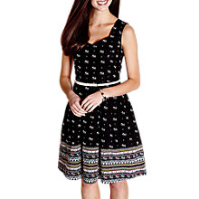 Buy Yumi Elephant Skater Dress, Black Online at johnlewis.com