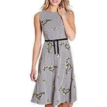 Buy Yumi Floral Embroidered Gingham Dress, Black Online at johnlewis.com