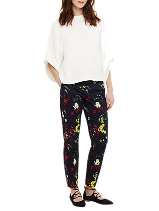 Phase Eight Manoela Printed Trousers, Navy/Multi