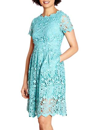 Yumi Guipure Lace Dress, Jade