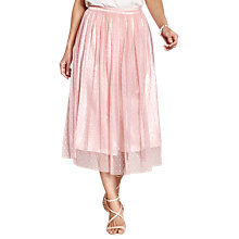 Buy Yumi Mesh Spot Party Skirt, Light Pink Online at johnlewis.com