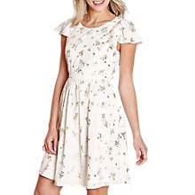 Buy Yumi Foil Birdcage Print Dress, Ivory Online at johnlewis.com