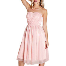 Buy Yumi Mesh Spot Prom Dress, Light Pink Online at johnlewis.com