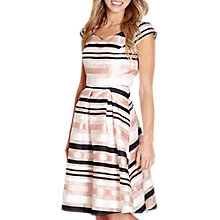 Buy Yumi Stripe Occasion Dress, Ivory Online at johnlewis.com