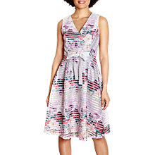 Buy Yumi Watercolour Floral Fishnet Dress, Multi Online at johnlewis.com