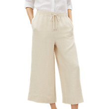 Buy Jaeger Cross Dyed Drawstring Cropped Linen Trousers Online at johnlewis.com
