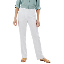 Buy Jaeger Parallel Linen Trousers Online at johnlewis.com