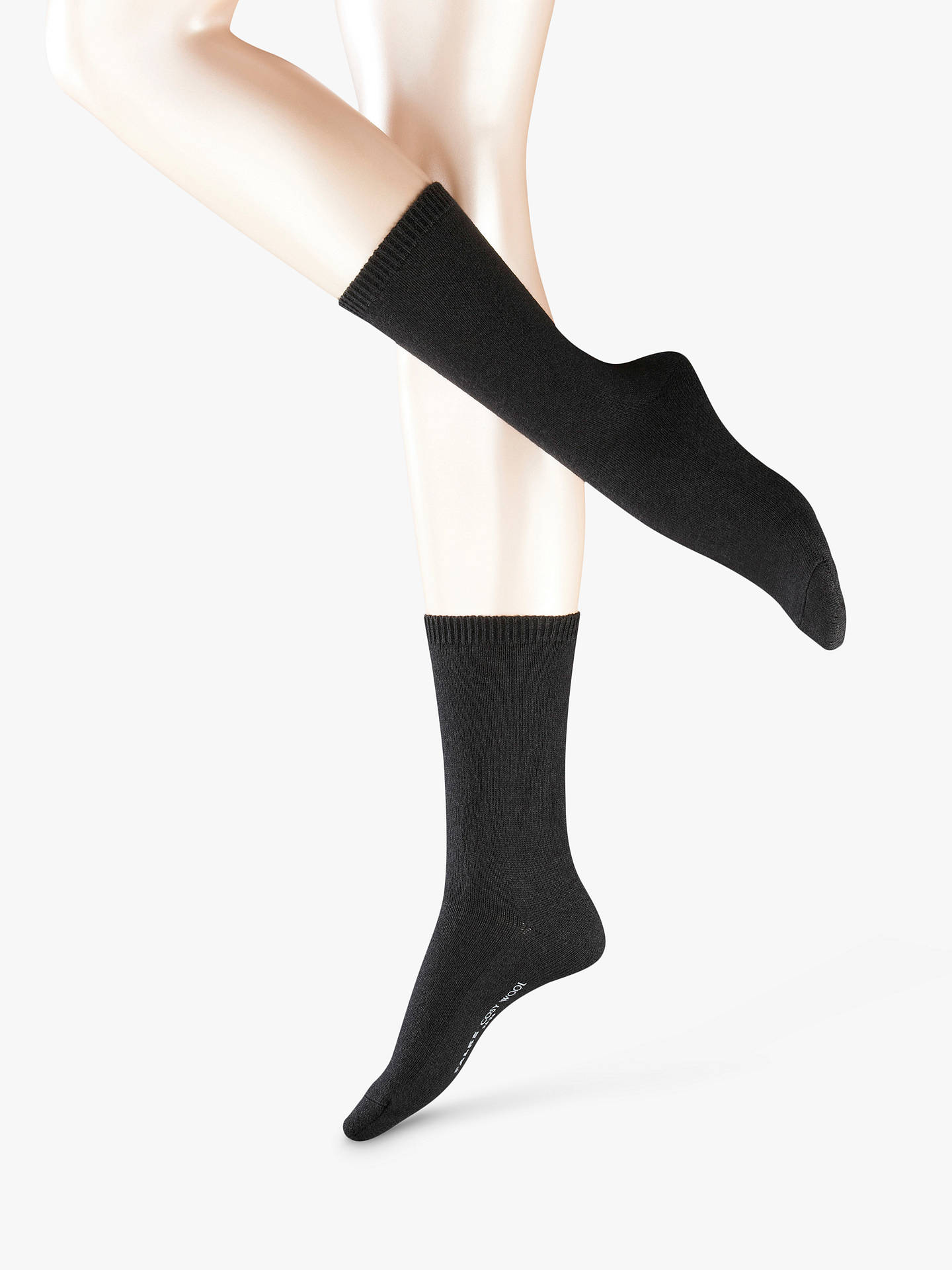Buy FALKE Cosy Wool Mix Ankle Socks, Black, S-M Online at johnlewis.com