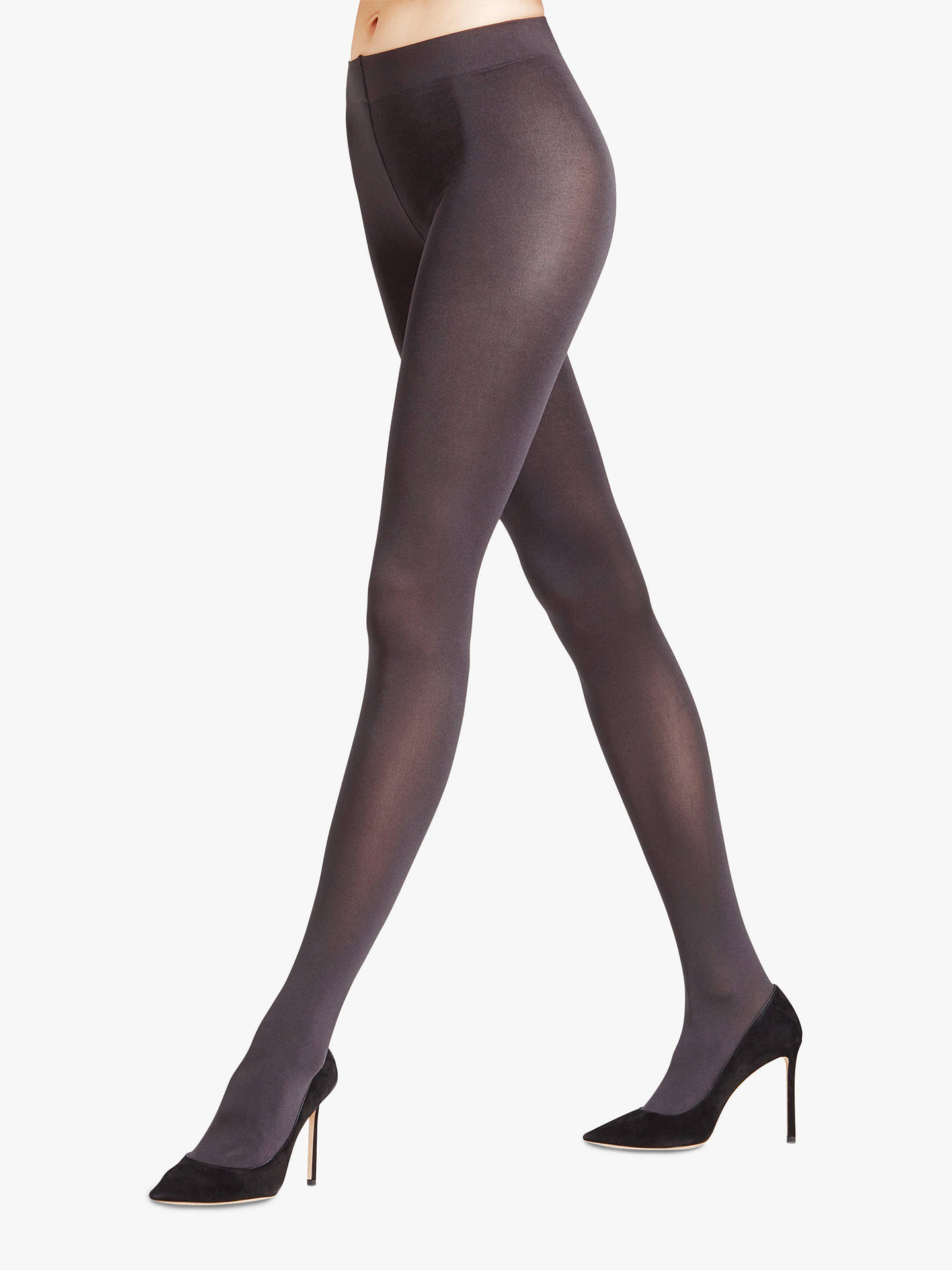 f3014c75c09 FALKE Seidenglatt Shiny 80 Denier Tights, Anthracite