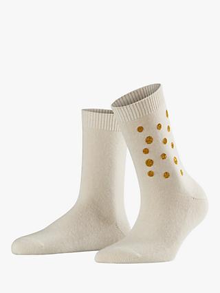 Falke Xmas Spot Ankle Socks Off White Gold