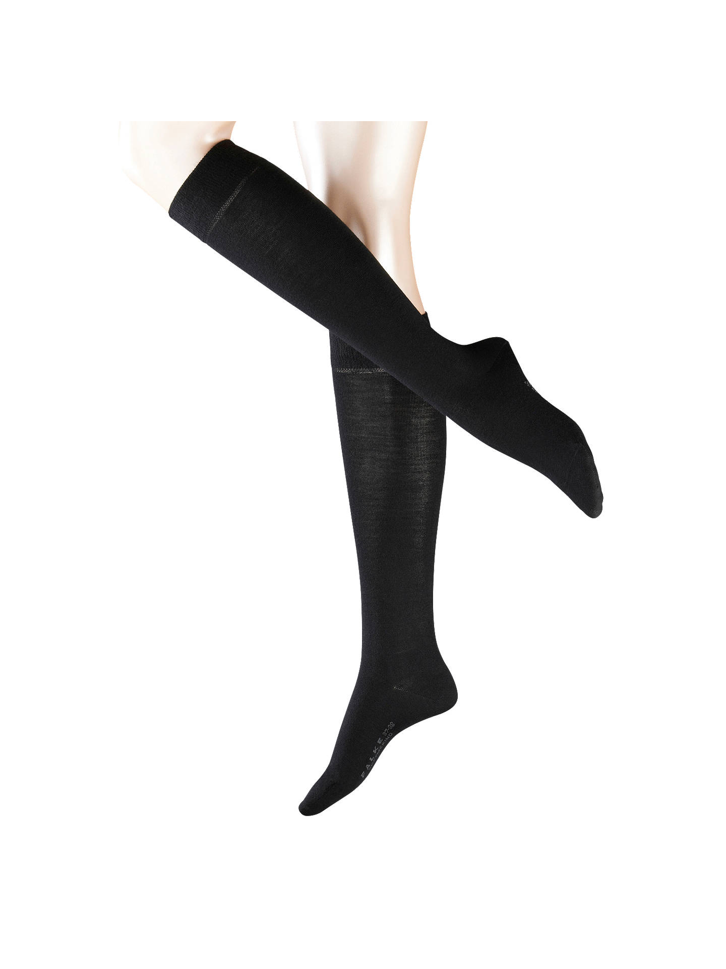 Buy FALKE Soft Merino Blend Knee High Socks, Black, S Online at johnlewis.com