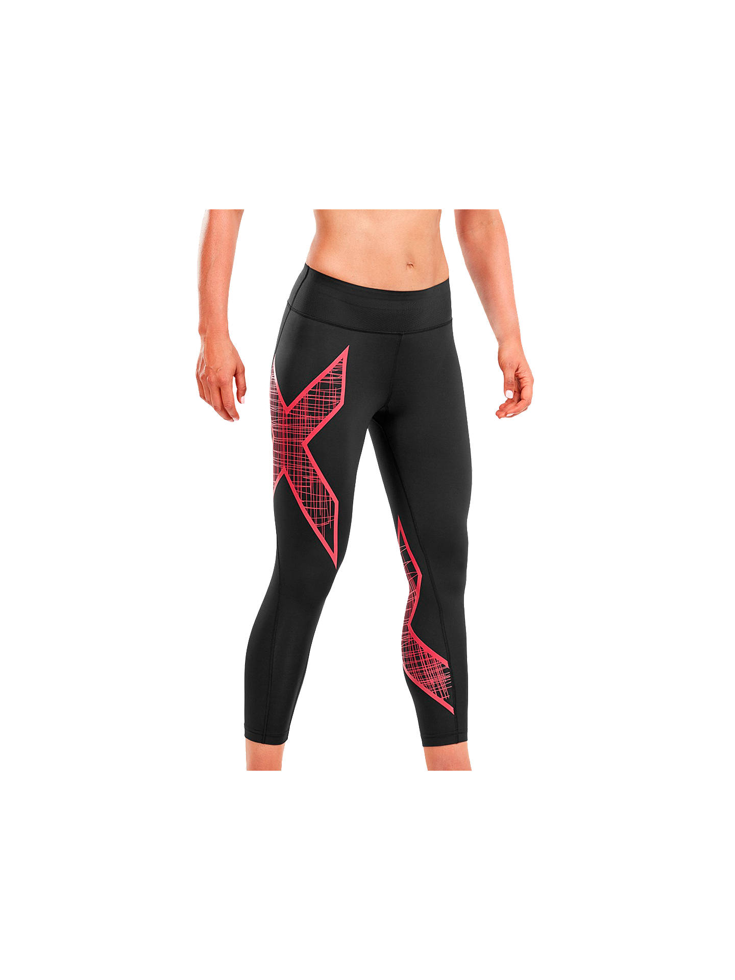 Buy2XU Compression Mid-Rise Print 7/8 Women's Tights, Black, XS Online at johnlewis.com