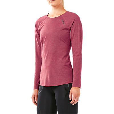 2XU Heat Long Sleeve Running Top, Virtual Pink