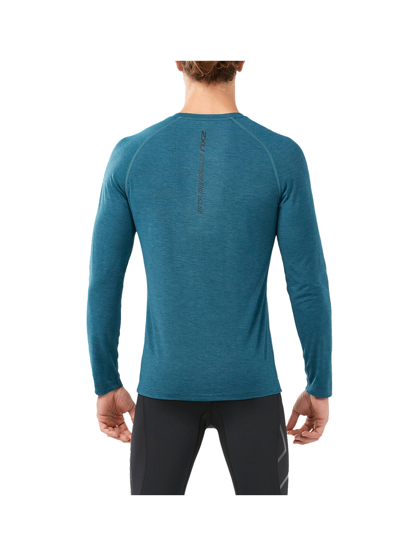 Buy2XU Xvent Heat Long Sleeve T-Shirt, Blue Turquoise, S Online at johnlewis.com