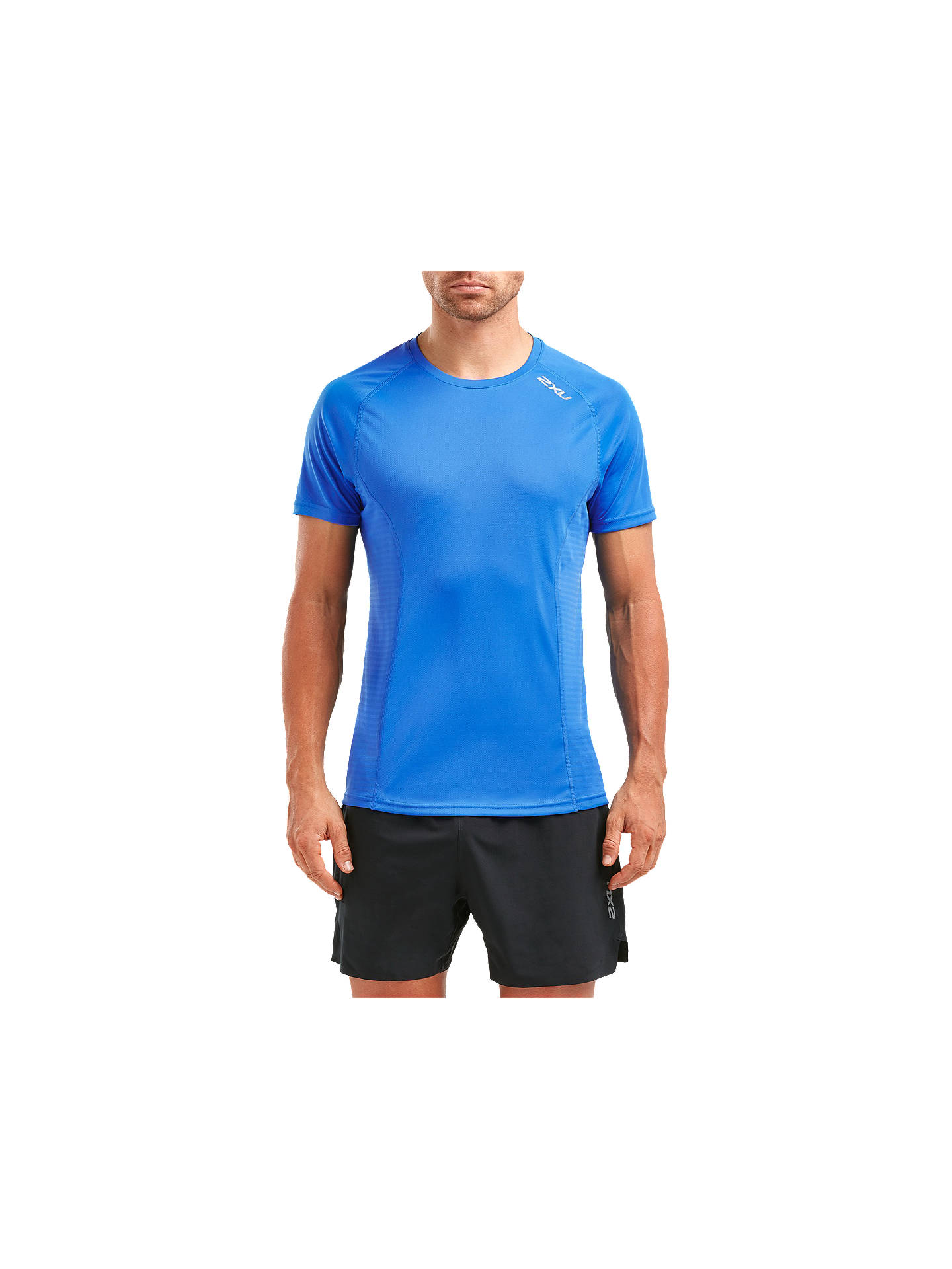 Buy 2XU Xvent Training T-Shirt, Blue Ocean, M Online at johnlewis.com