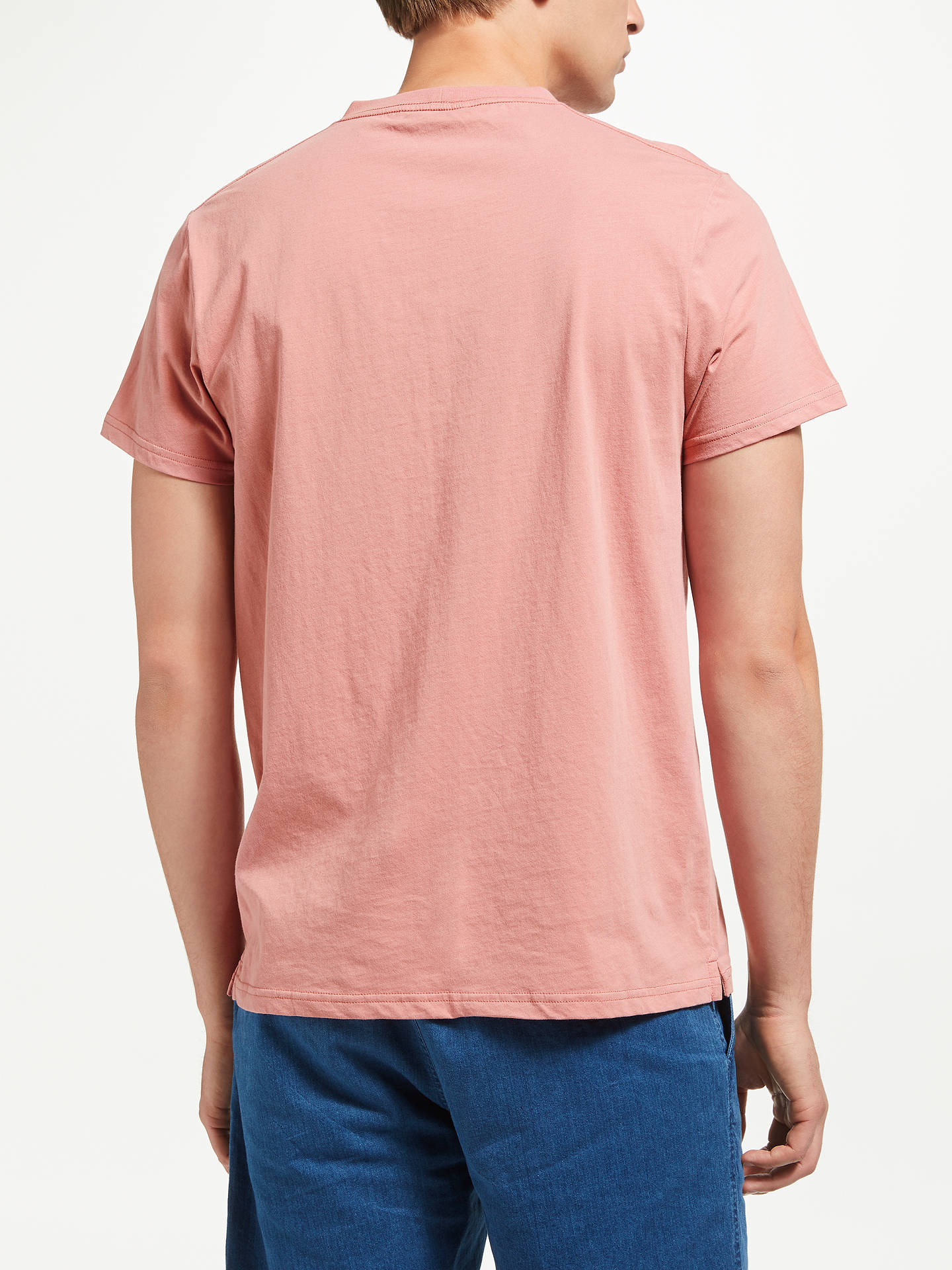 BuySamsoe & Samsoe Max O-N Logo T-Shirt, Dusty Rose, M Online at johnlewis.com