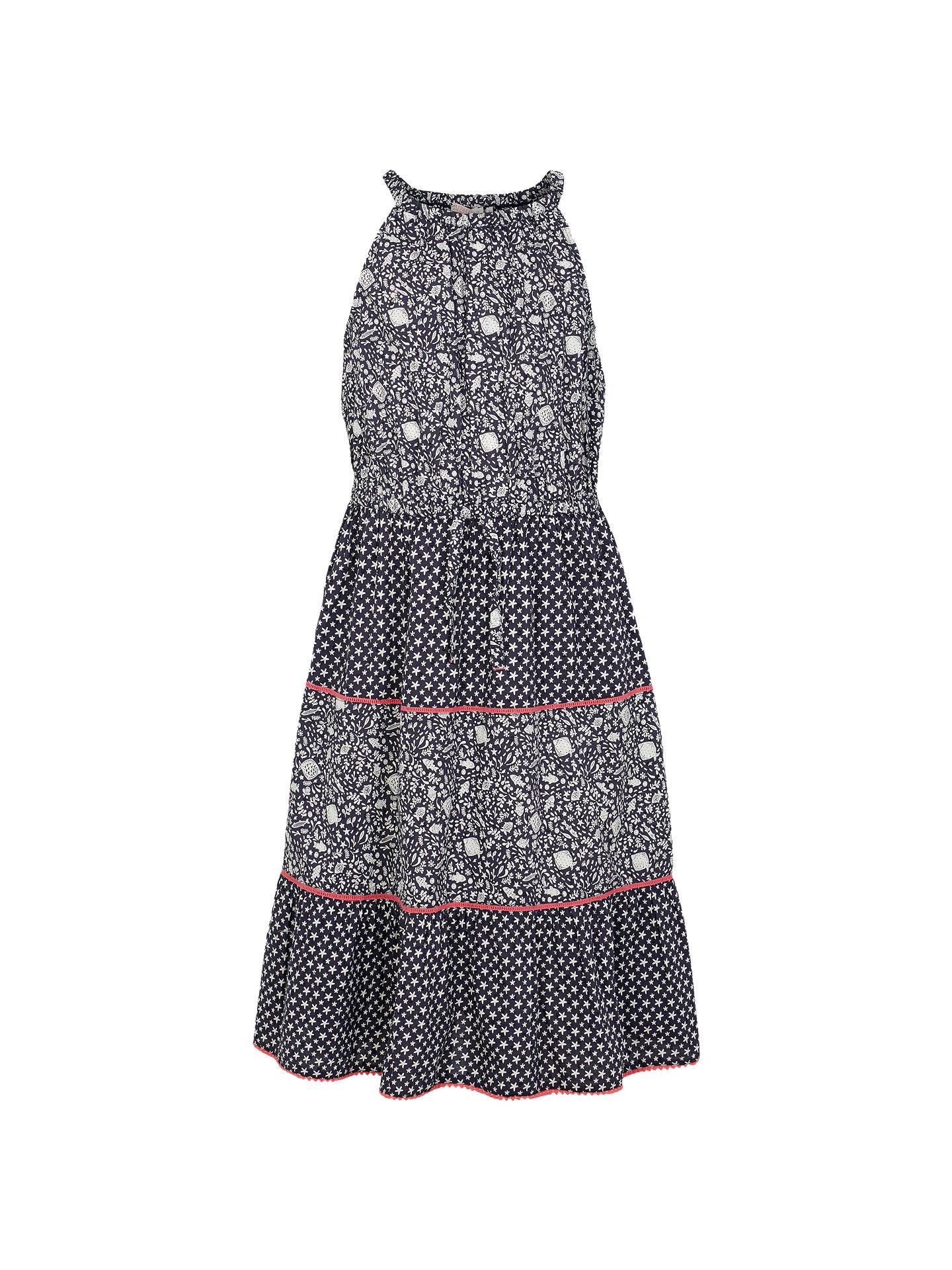 55ec61224a Buy Fat Face Girls' Edith Fish Dress, Navy, 2-3 years Online ...