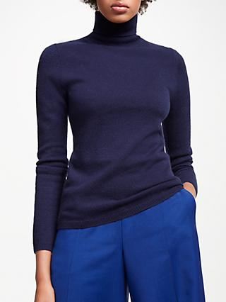John Lewis Partners Cashmere Roll Neck Jumper