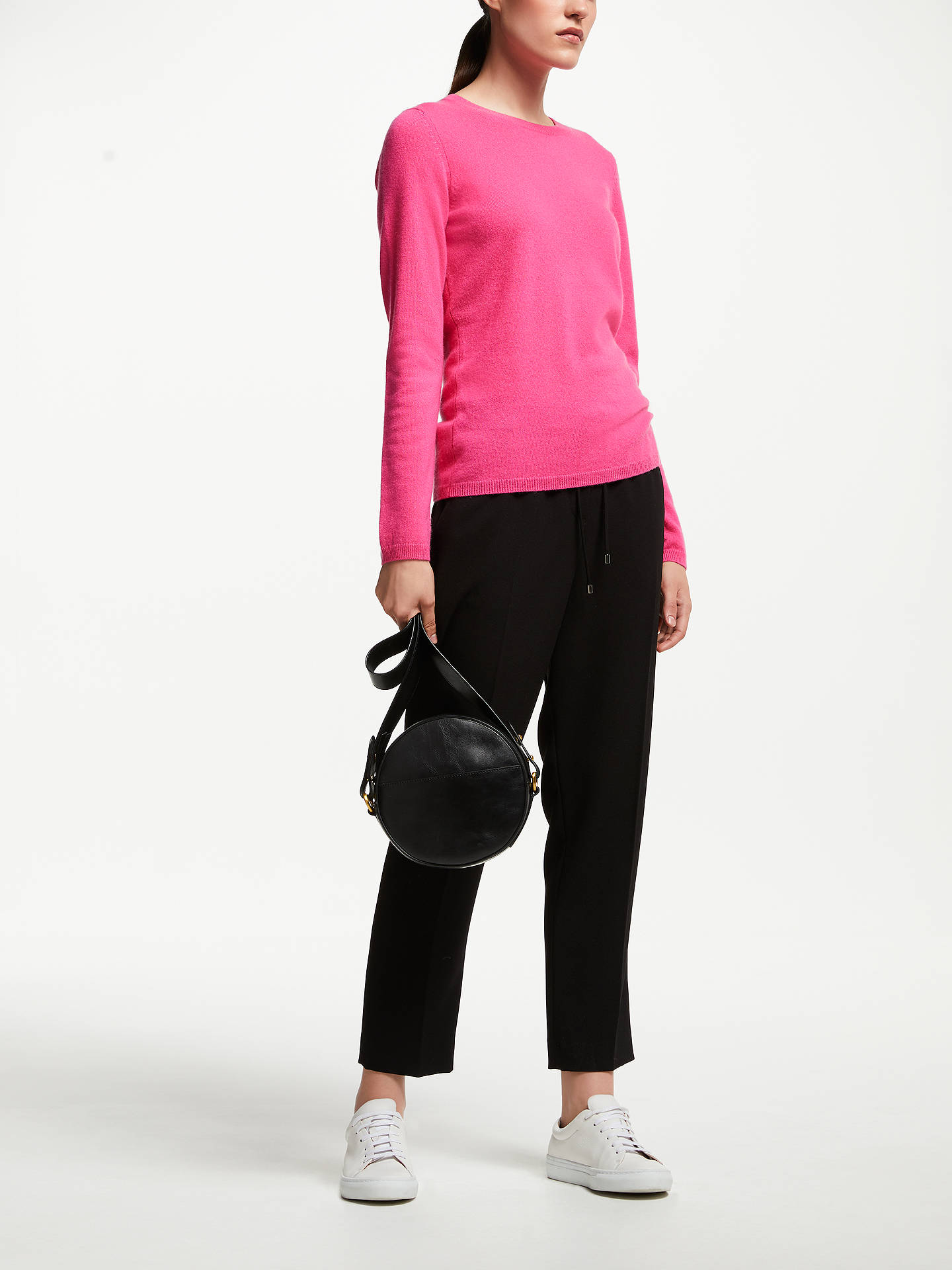 BuyJohn Lewis & Partners Cashmere Crew Neck Sweater, Raspberry, 12 Online at johnlewis.com