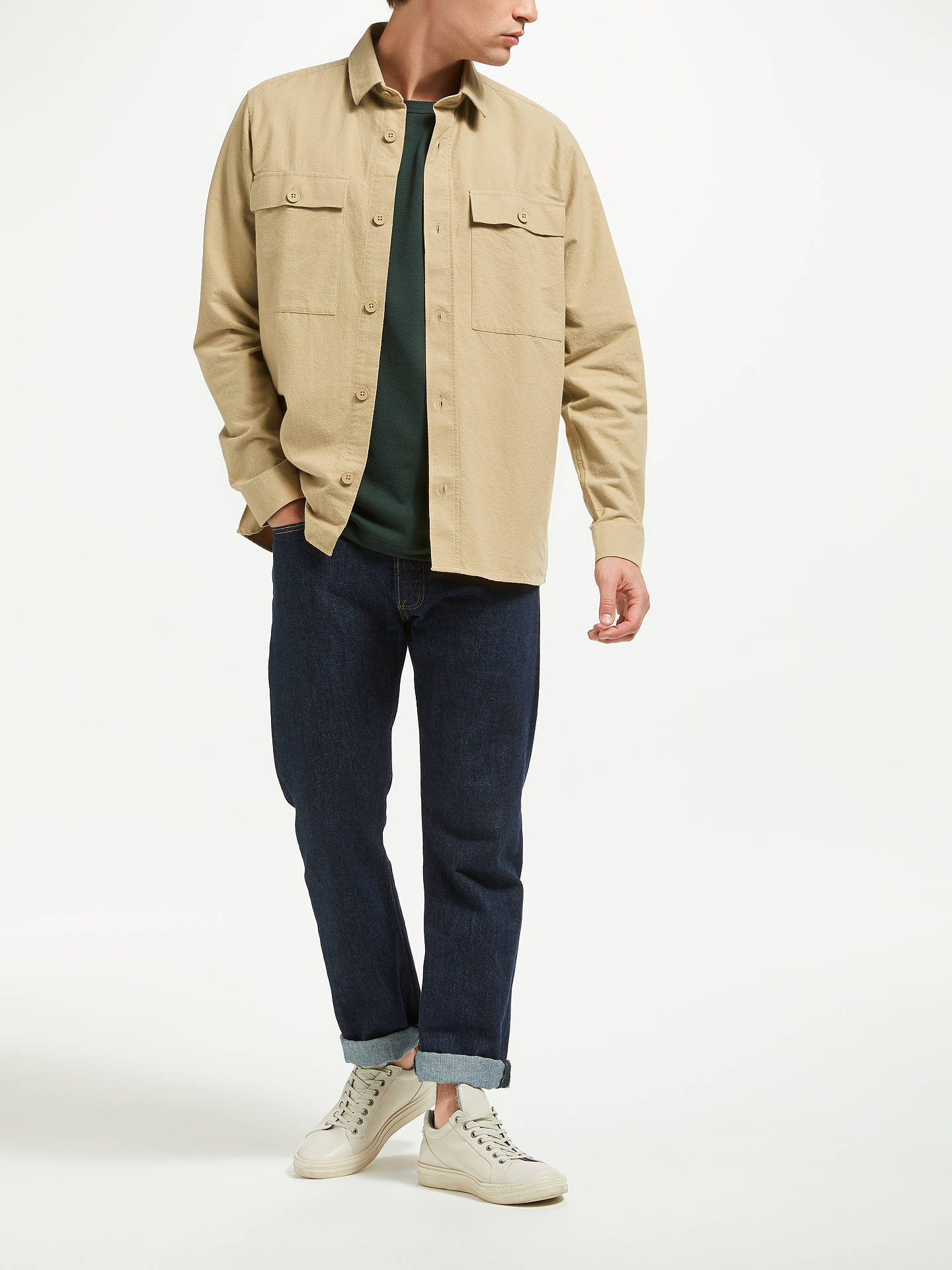 BuySamsoe & Samsoe Waltones Overshirt, Natural, S Online at johnlewis.com