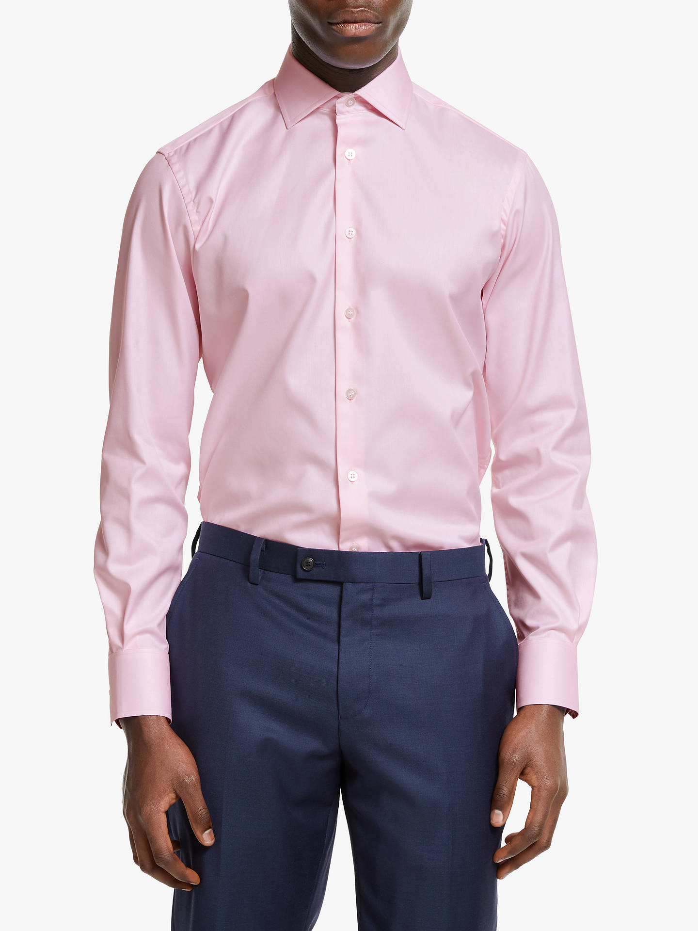 BuySmyth & Gibson Non Iron Twill Contemporary Fit Shirt, Pink, 15 Online at johnlewis.com