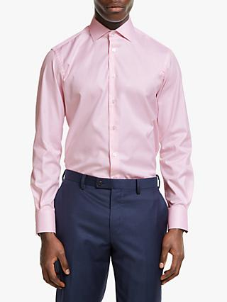 Smyth & Gibson Non Iron Twill Contemporary Fit Shirt, Pink