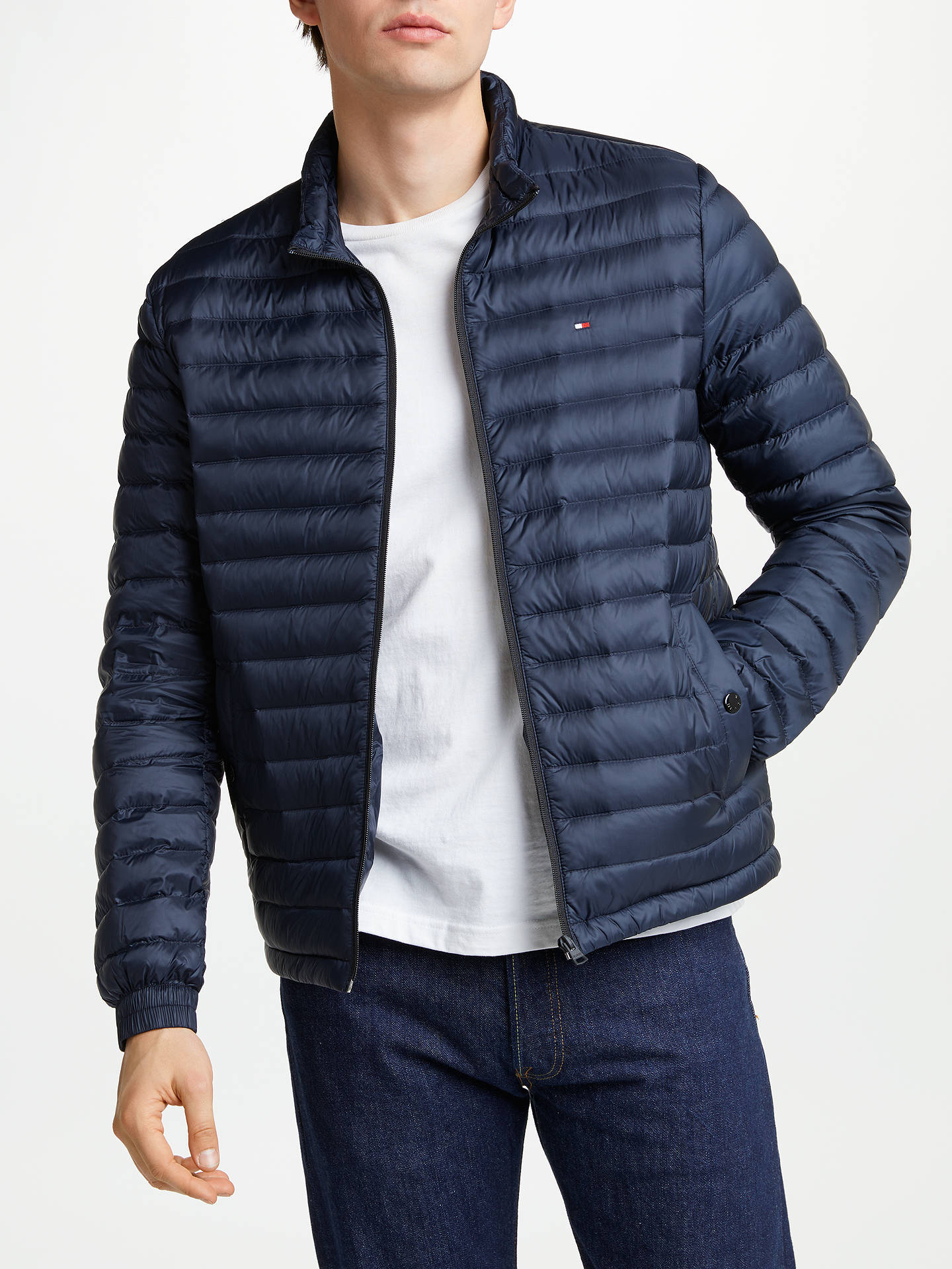 Tommy Hilfiger Packable Down Bomber Jacket Navy At John