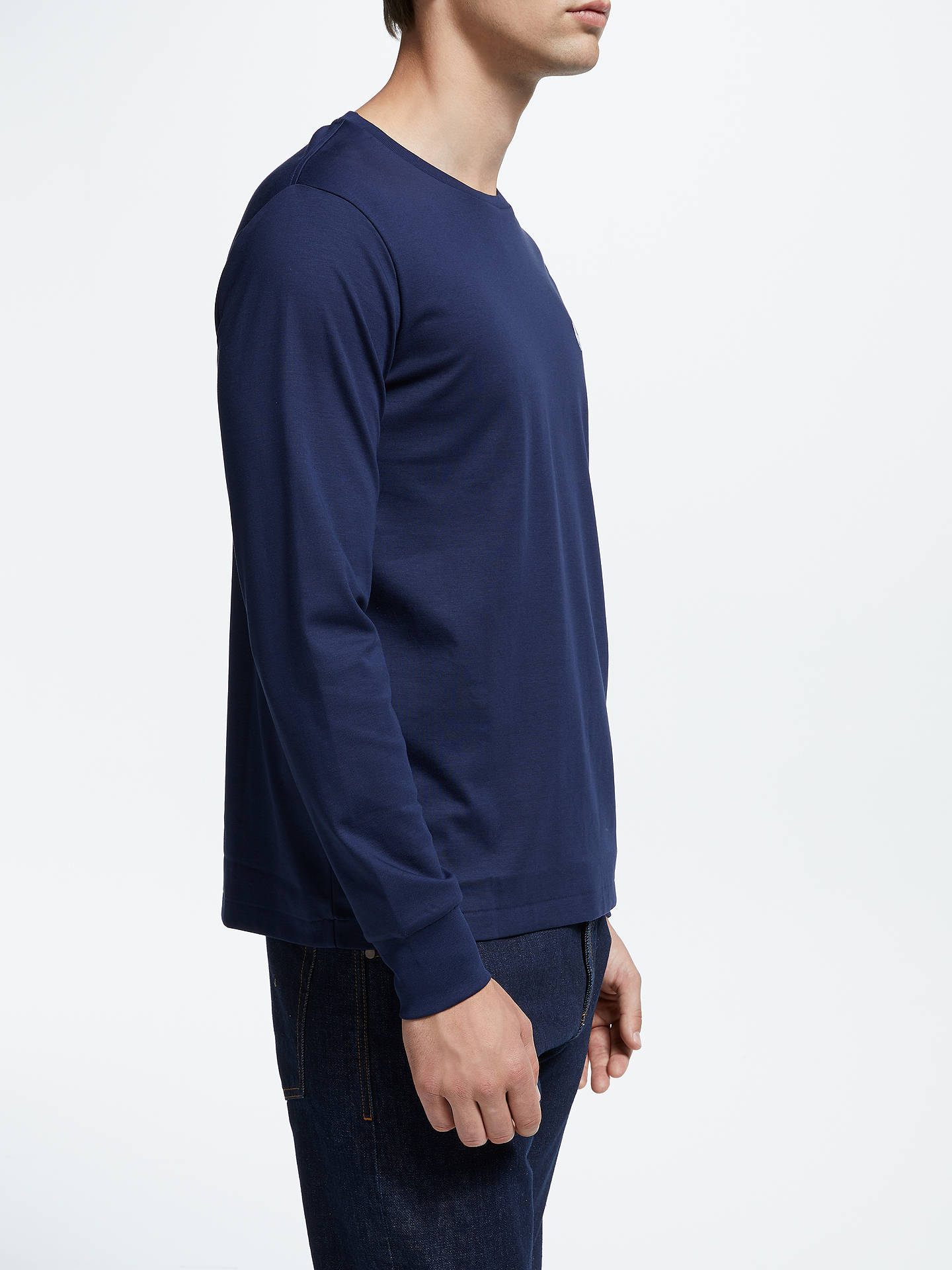 Buy Polo Ralph Lauren Long Sleeve T-Shirt, Blue, S Online at johnlewis.com