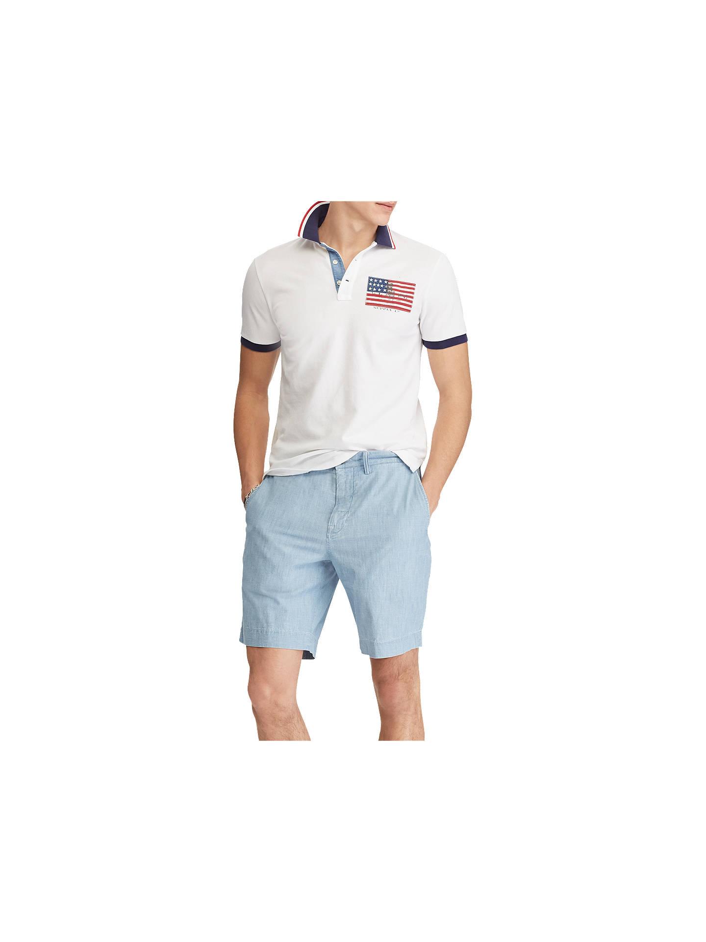 Polo Flag Lauren Fit ShirtWhite American At Ralph Custom John CsthQBrdxo
