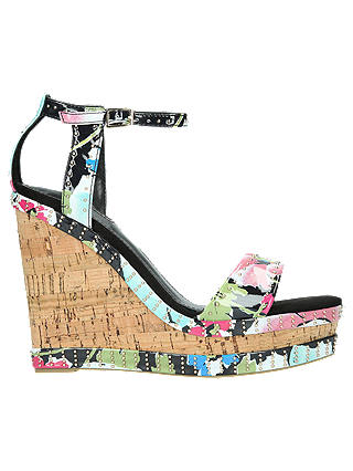 Buy Carvela Kissmee Studded Wedge Heel Sandals, Multi, 3 Online at johnlewis.com