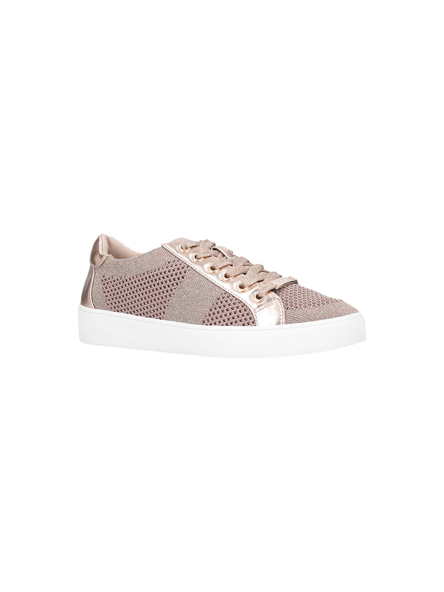 BuyCarvela Jealousy Lace-Up Trainers, Nude, 3 Online at johnlewis.com