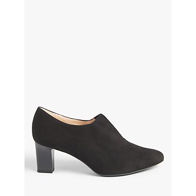Peter Kaiser Miaka Block Heel Shoe Boots, Black Suede