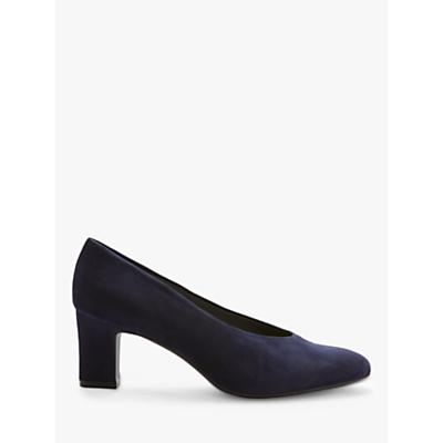 Peter Kaiser Mahirella Block Heel Court Shoes, Navy Suede