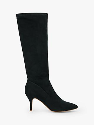 John Lewis & Partners Sugar Pop Calf Boots, Black Suedette