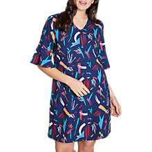 Buy Yumi Curve Abstract Print Tunic Dress, Dark Navy Online at johnlewis.com